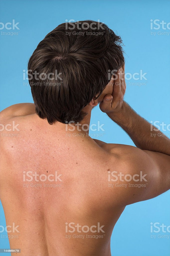 young man back stock photo
