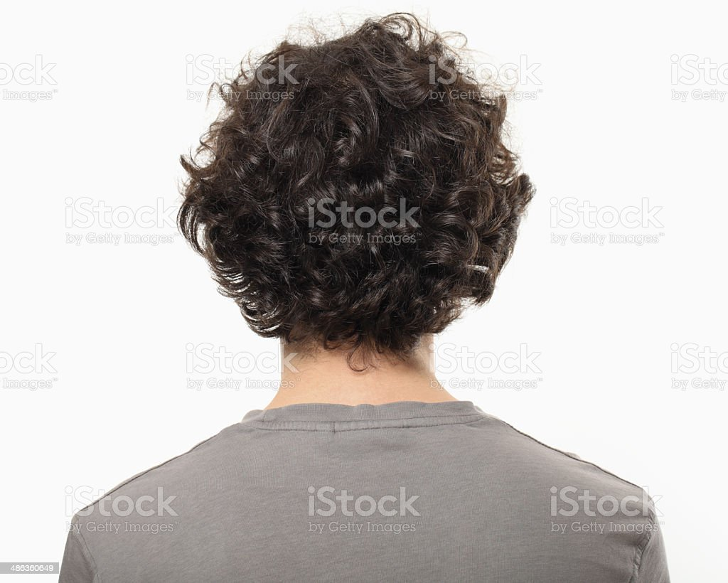 Young Man Back Portrait. stock photo