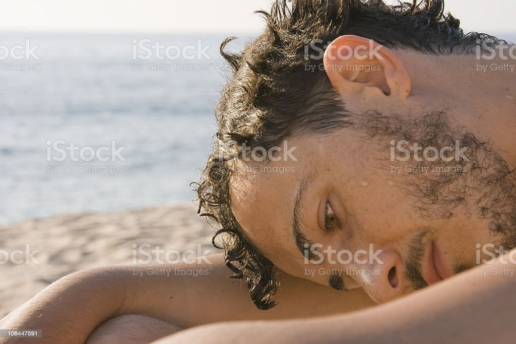 Young man - Beach, Sardinia, Italy royalty-free stock photo