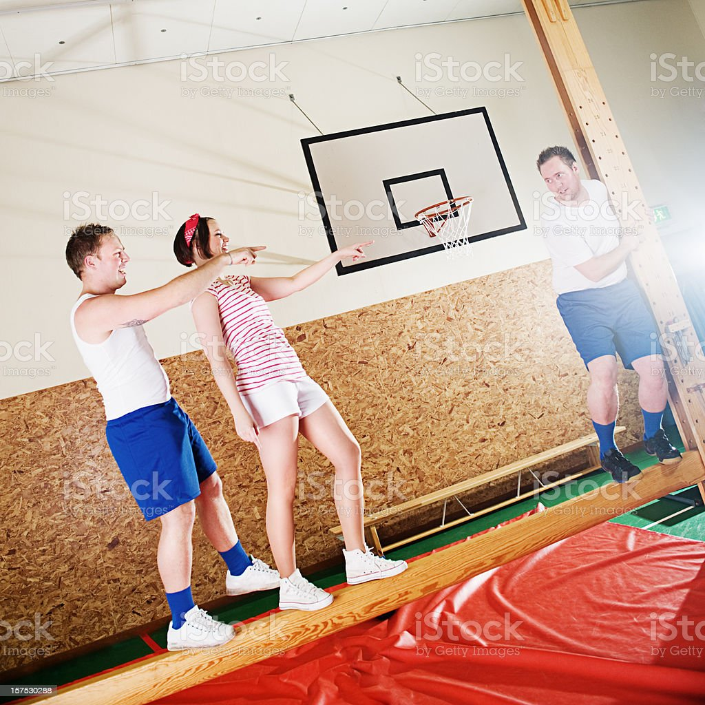 Young man being bullied royalty-free stock photo