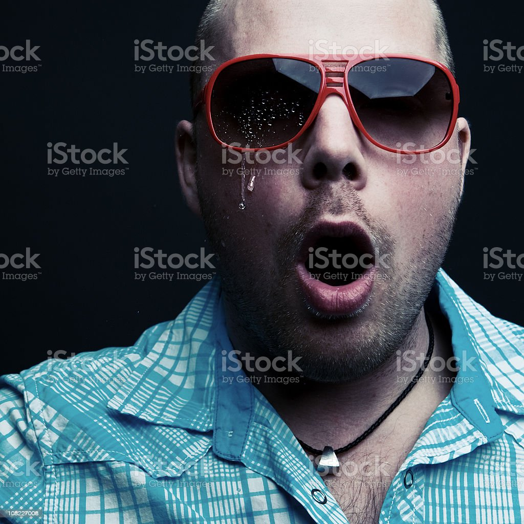 Young Man Crying royalty-free stock photo