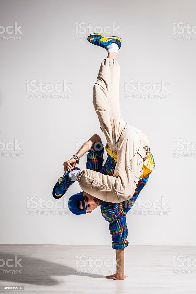 Young man dancer stock photo