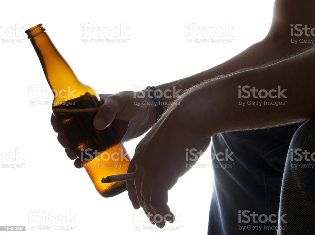 young man drinking and feeling despair royalty-free stock photo