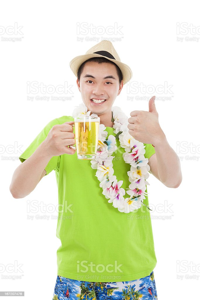 young man drinking beer royalty-free stock photo