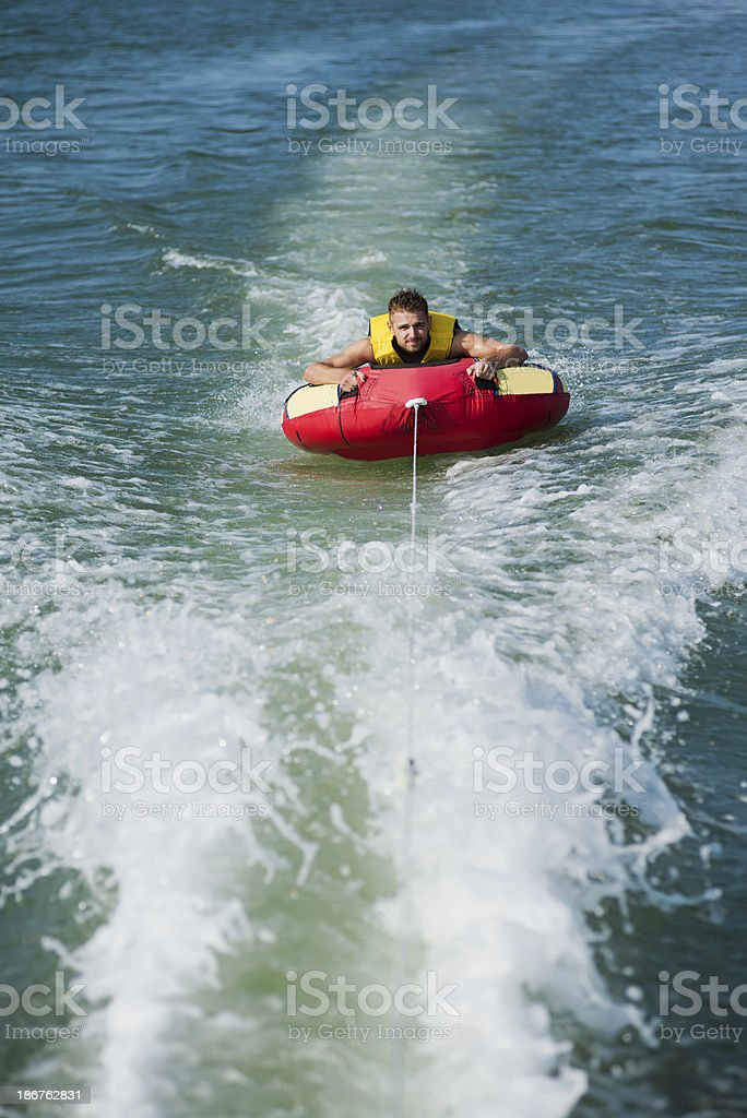 Young man enjoying in water sport royalty-free stock photo