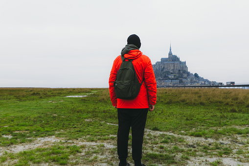 Young man exploring the beauty of France
