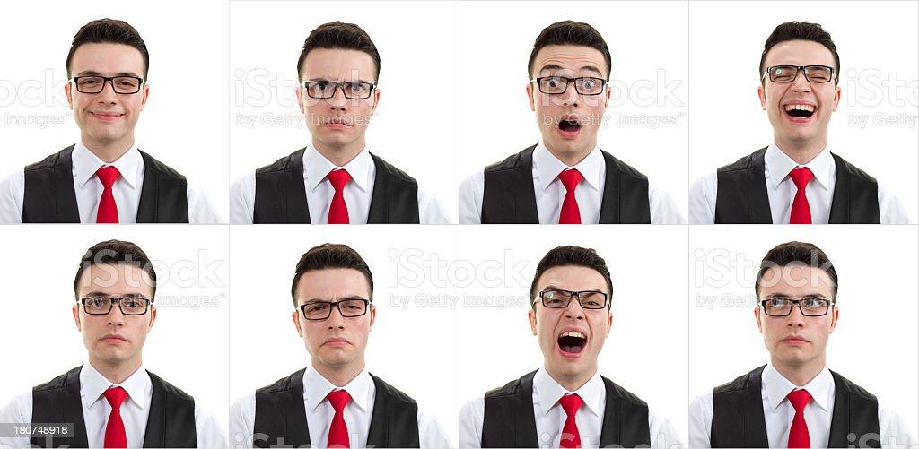 Young Man Facial Expression royalty-free stock photo