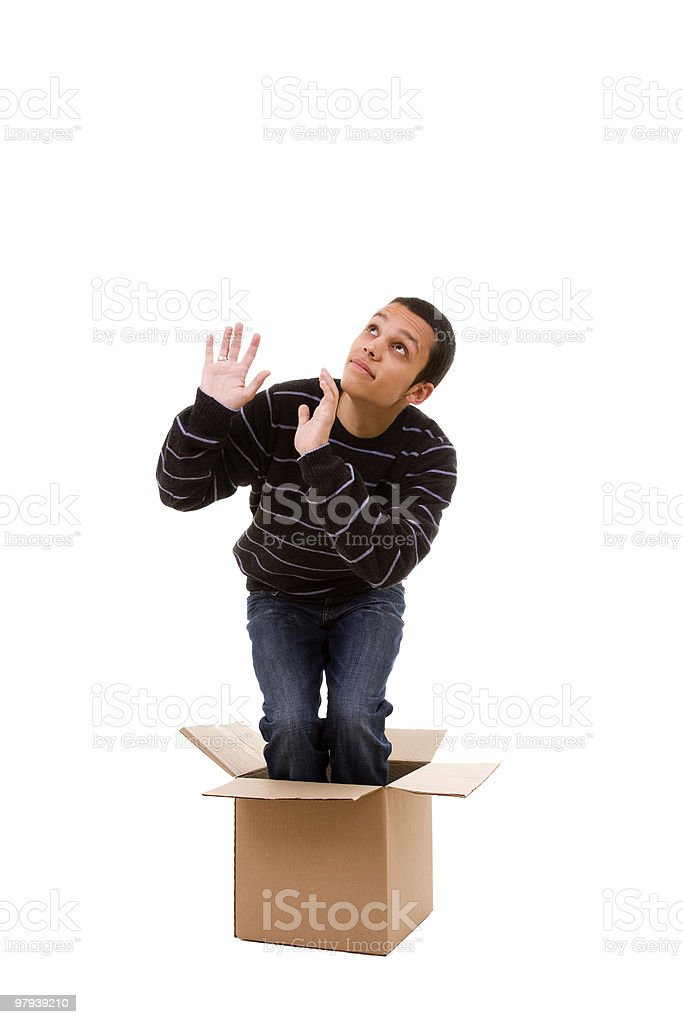 young man fear royalty-free stock photo
