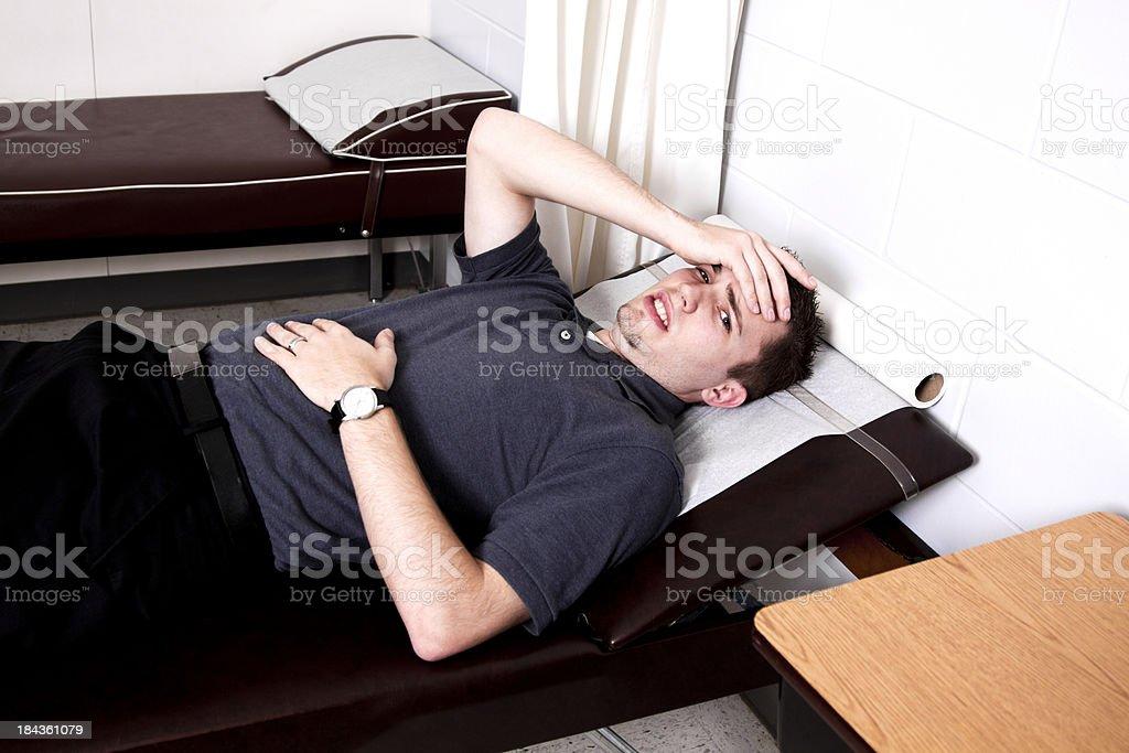 Young Man Feeling Ill stock photo