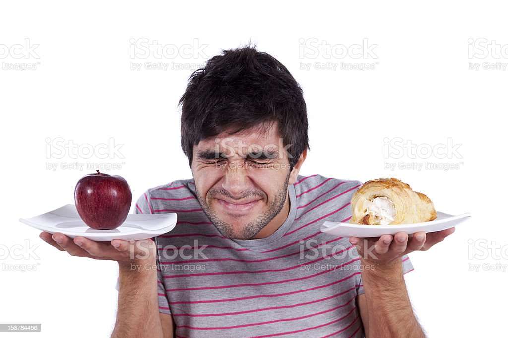 young man food decision royalty-free stock photo