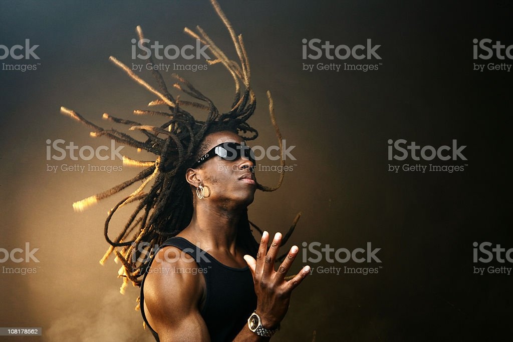 Young Man Gesturing stock photo