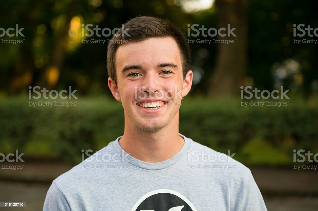 Young Man High School Senior Portrait stock photo