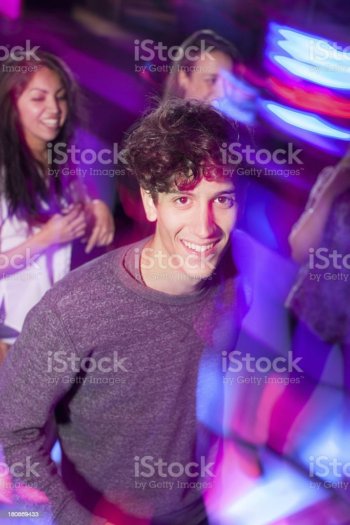 Young Man in a disco royalty-free stock photo