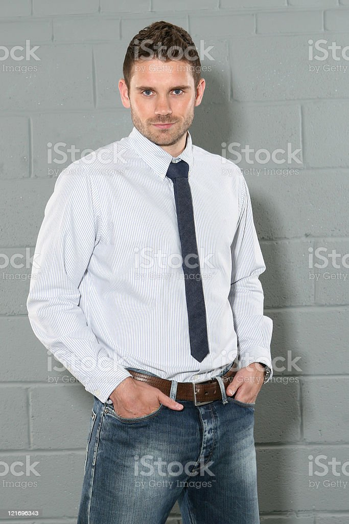 Young man in a shirt and tie royalty-free stock photo