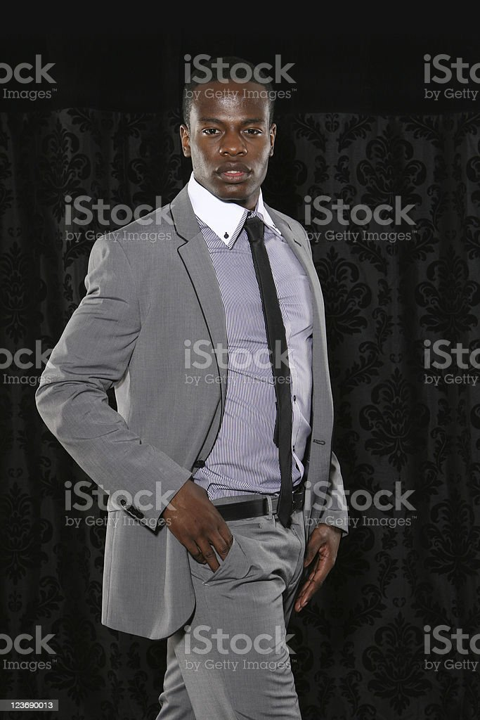 Young man in a suit stock photo