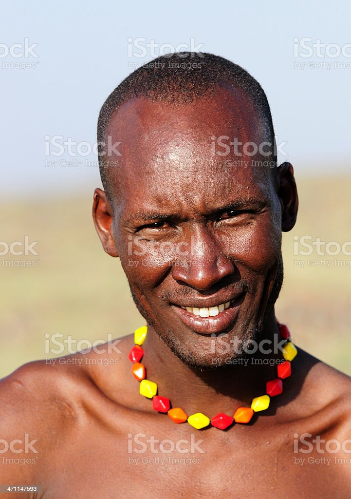 Young Man in Africa royalty-free stock photo