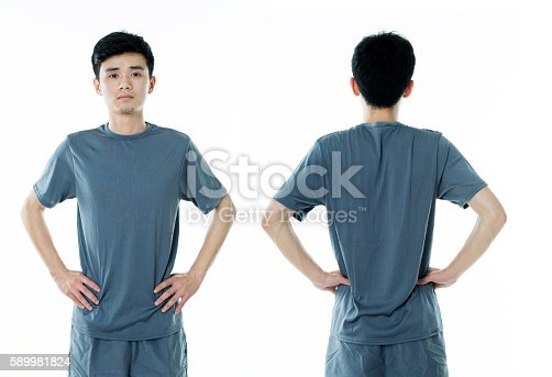 956902000 istock photo Young man in blank t-shirt 589981824