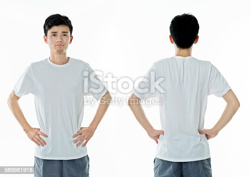 956902000 istock photo Young man in blank t-shirt 589981918