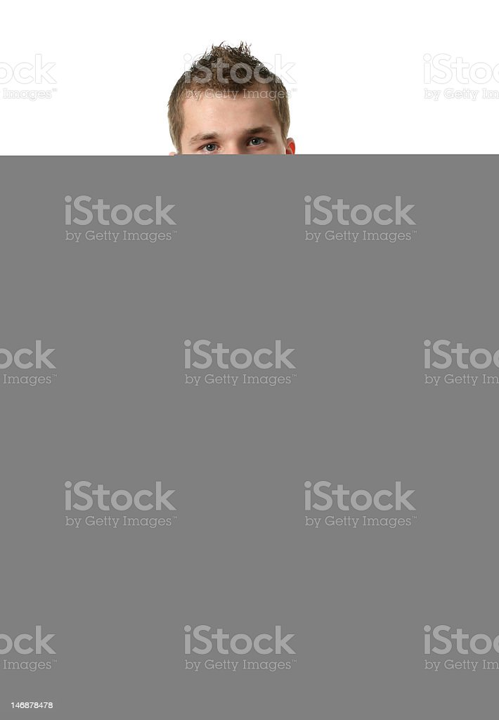 Young Man in Blue royalty-free stock photo