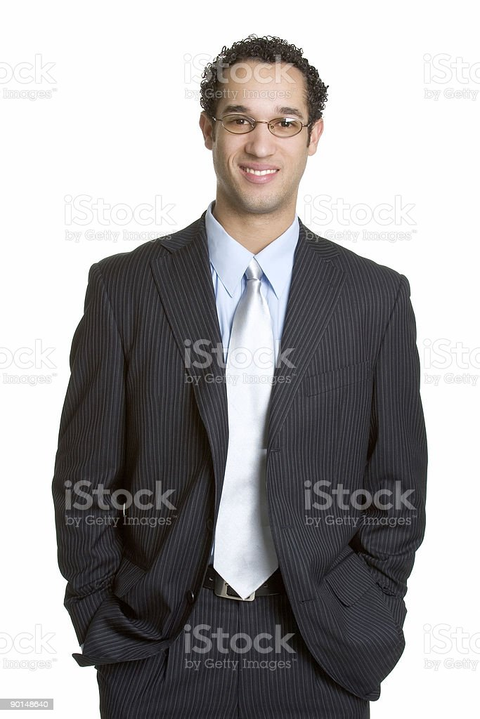Young man in business attire smiling  royalty-free stock photo