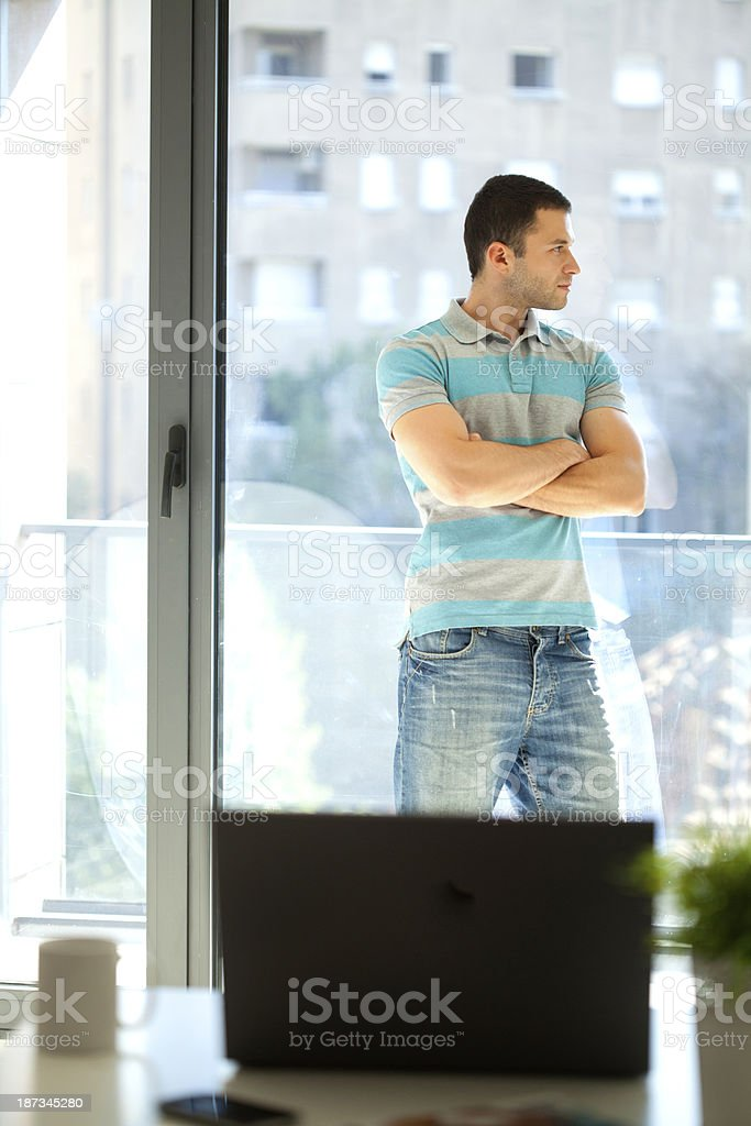 young man in business office royalty-free stock photo