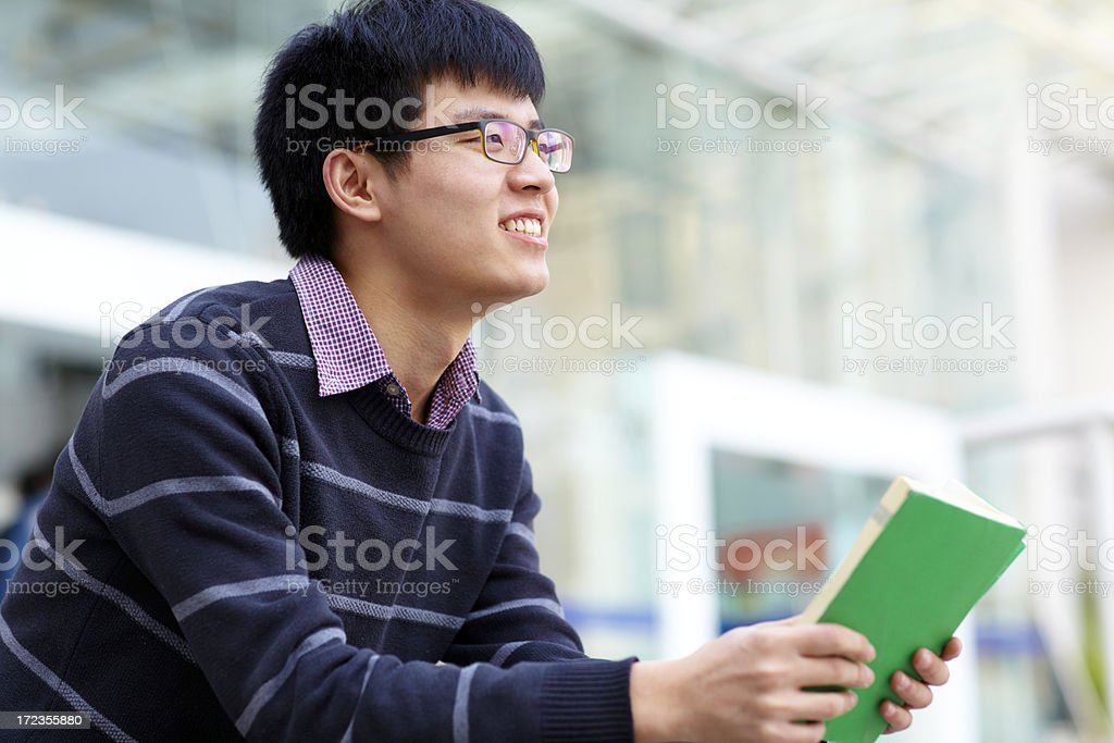young man in campus royalty-free stock photo