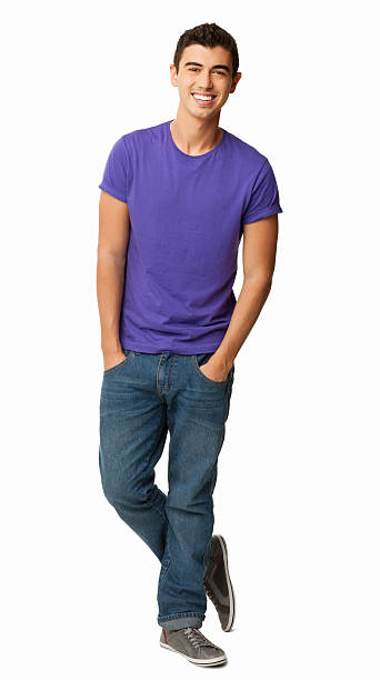 Young Man In Casual Wear - Isolated stock photo