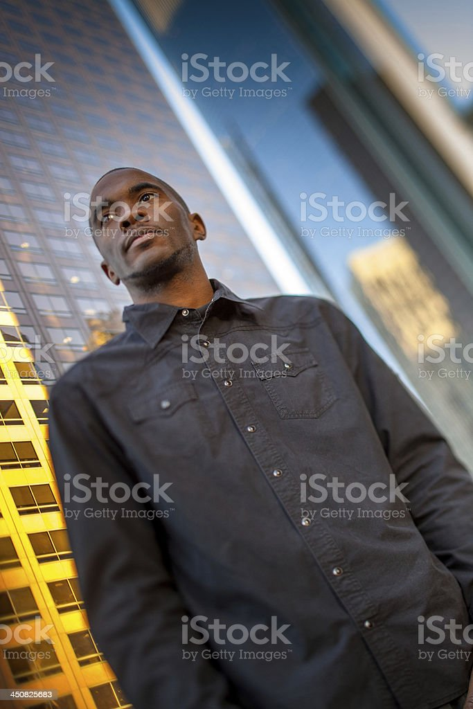 Young Man in Financial District royalty-free stock photo