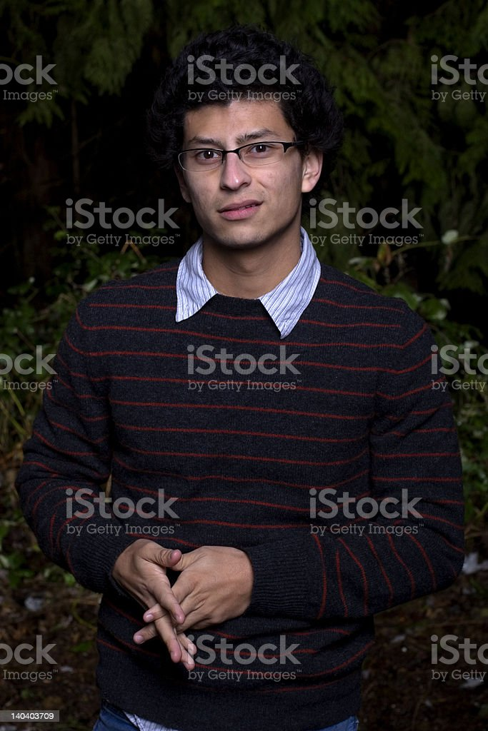 Young Man in Forest royalty-free stock photo
