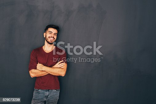 istock Young man in front of blackboard 529073239