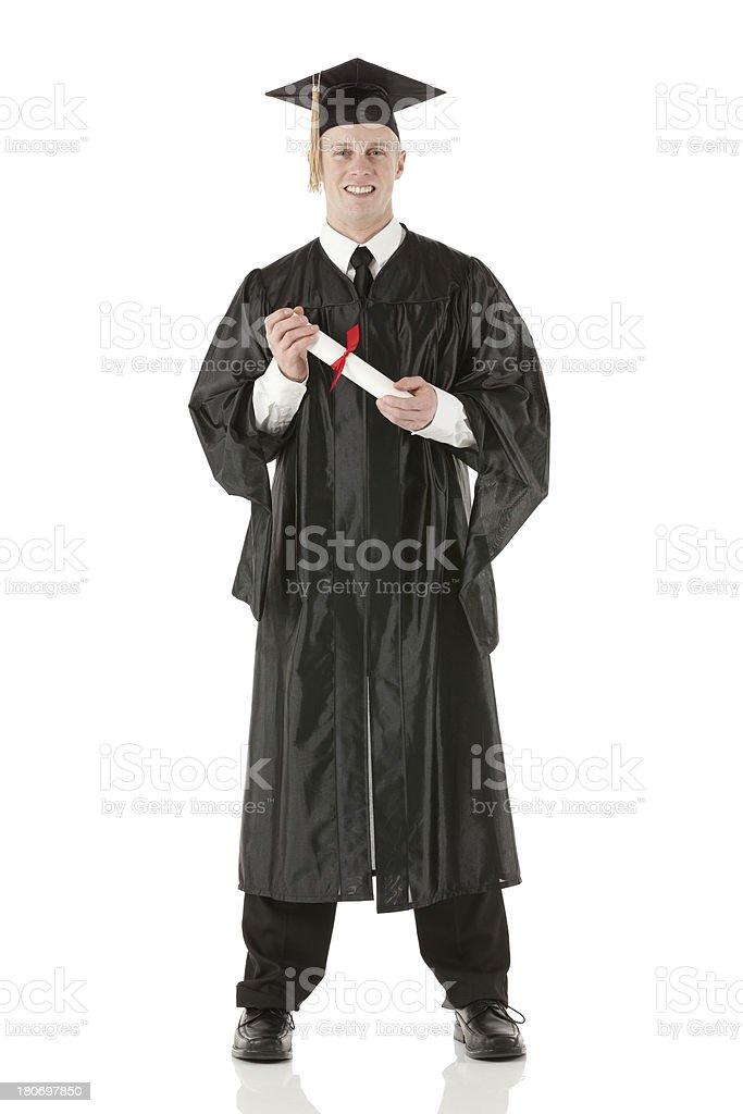 outlet store a5330 f951e Giovane Uomo In Un Vestito Con Diploma Di Laurea ...