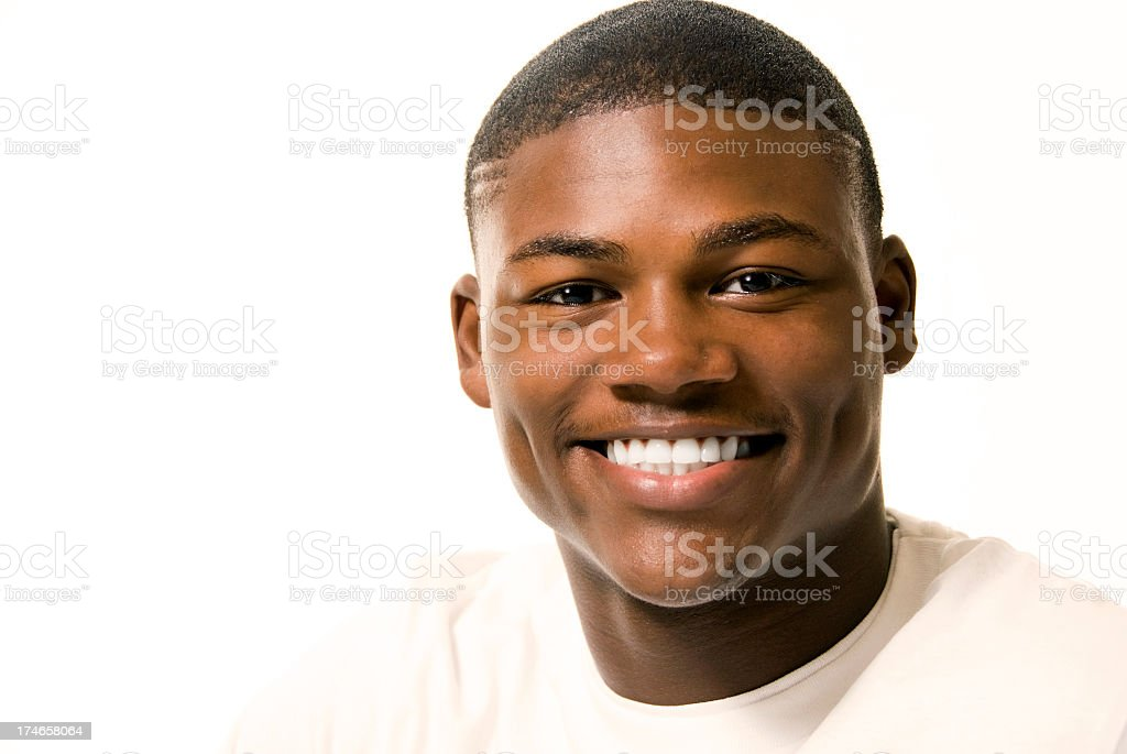 Young man in his 20's with great smile stock photo