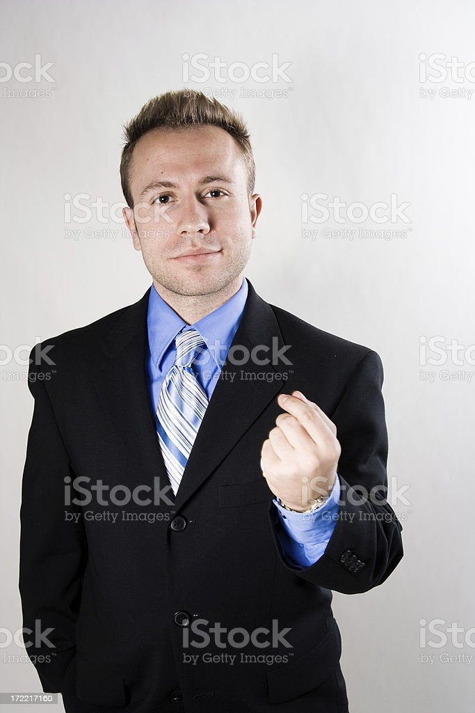 young man in suit portraits stock photo