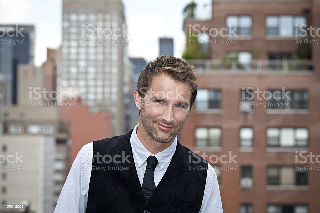 young man in the streets royalty-free stock photo