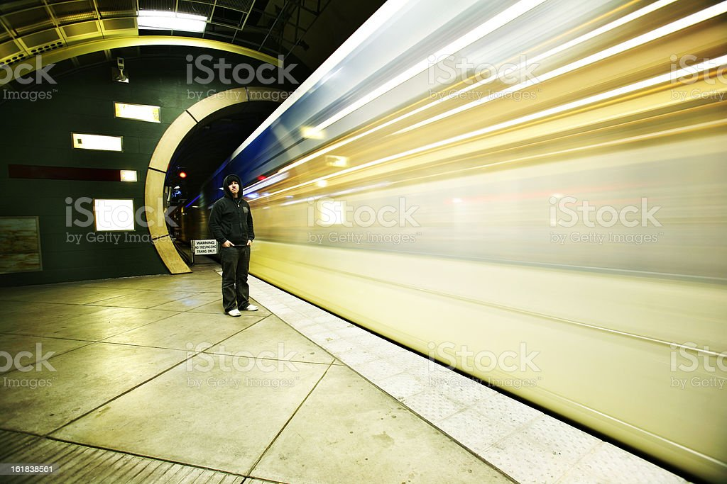 Young Man in the Subway royalty-free stock photo