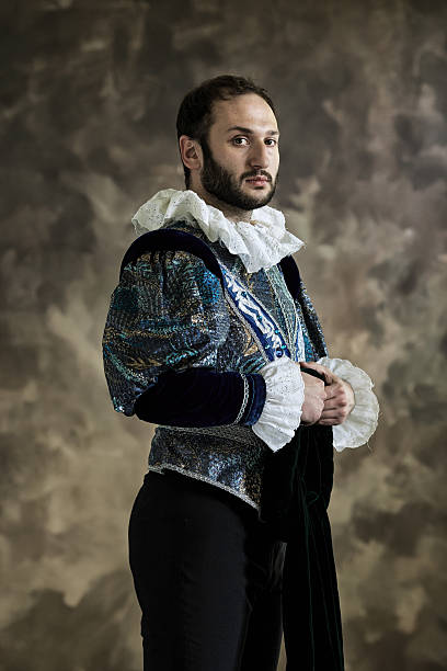 young man in theatrical costume - renaissance style stock photos and pictures