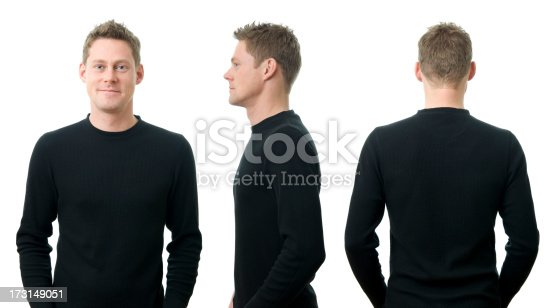 834639402istockphoto A young man in three different poses 173149051
