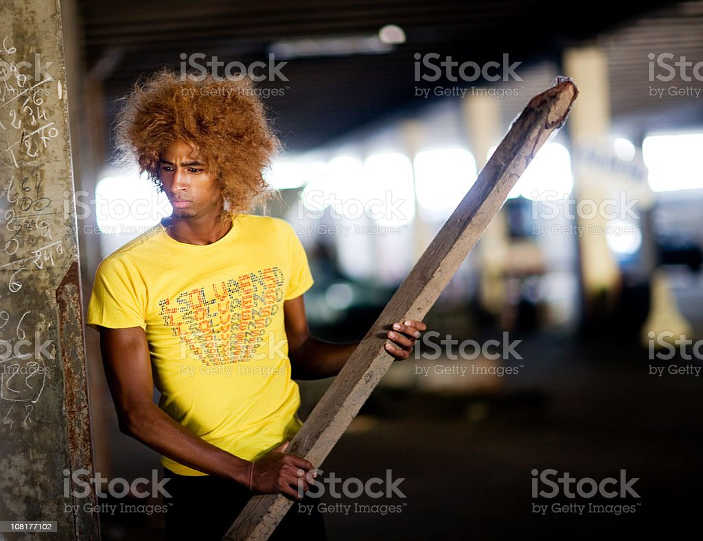 Young Man in Urban Scene royalty-free stock photo