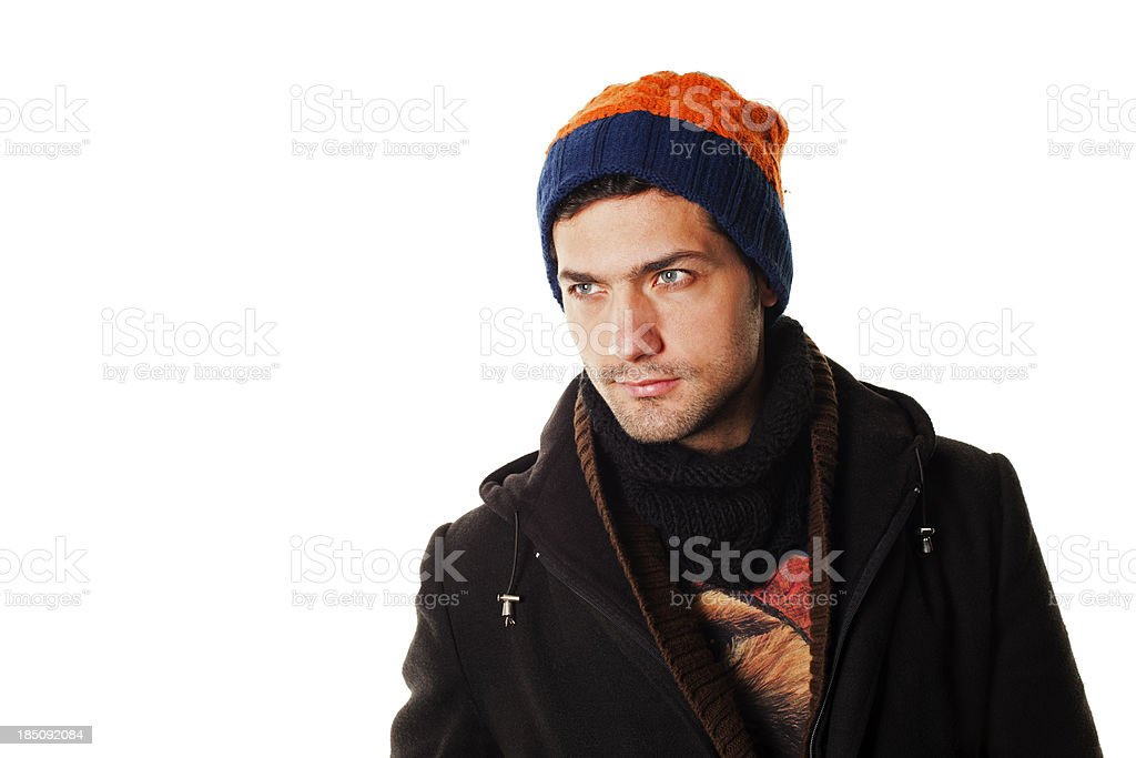 Young Man In Winter Clothing stock photo