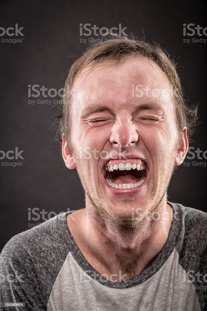 Young Man Laughing stock photo