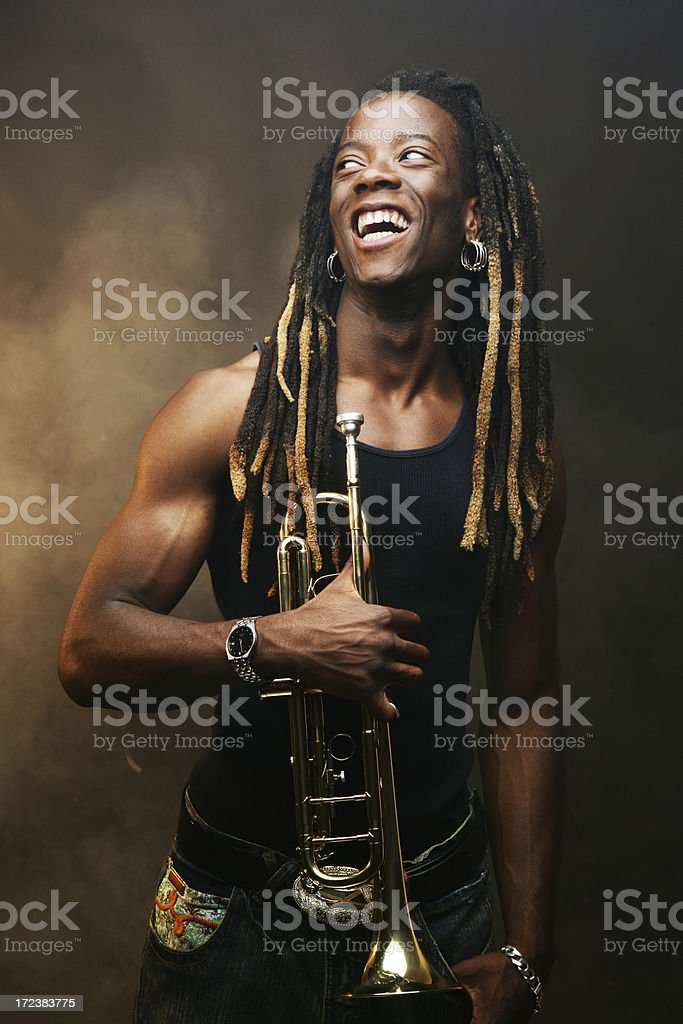 Young Man Laughing royalty-free stock photo