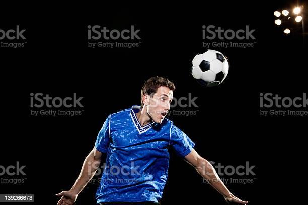 Young man leaping to head soccer ball picture id139266673?b=1&k=6&m=139266673&s=612x612&h=zajvwrmxbvjawzpwvkqozltjsbkbzdojqbajebz2rya=