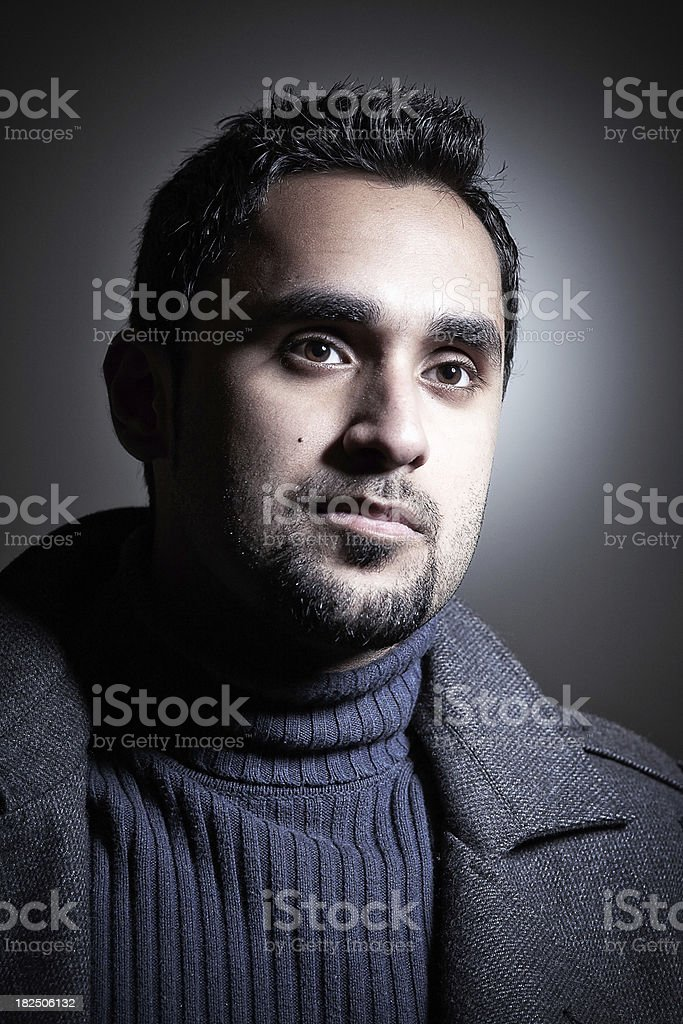 Young man looking away royalty-free stock photo