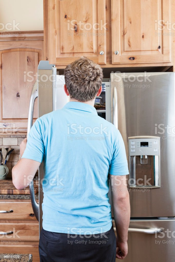 Young Man Looking in the Fridge royalty-free stock photo
