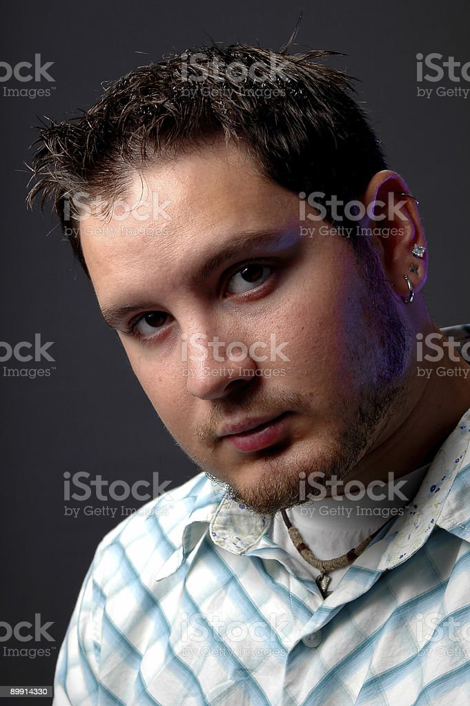 Young Man Looking Serious royalty-free stock photo