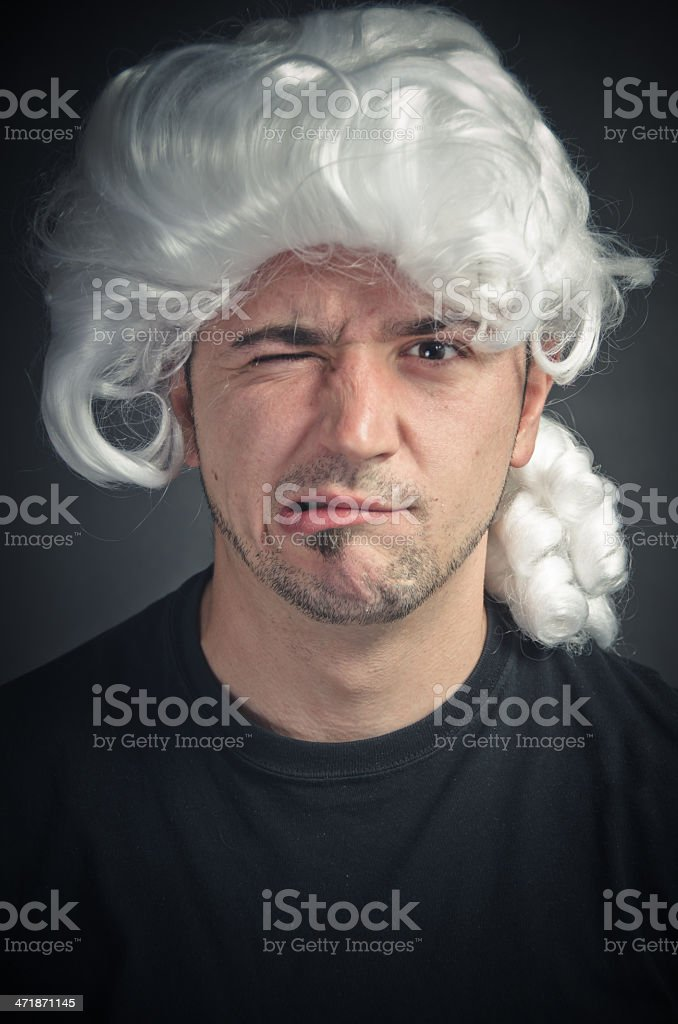 Young Man Making A Face royalty-free stock photo
