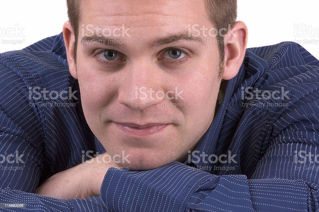 Young Man Making Eye Contact royalty-free stock photo