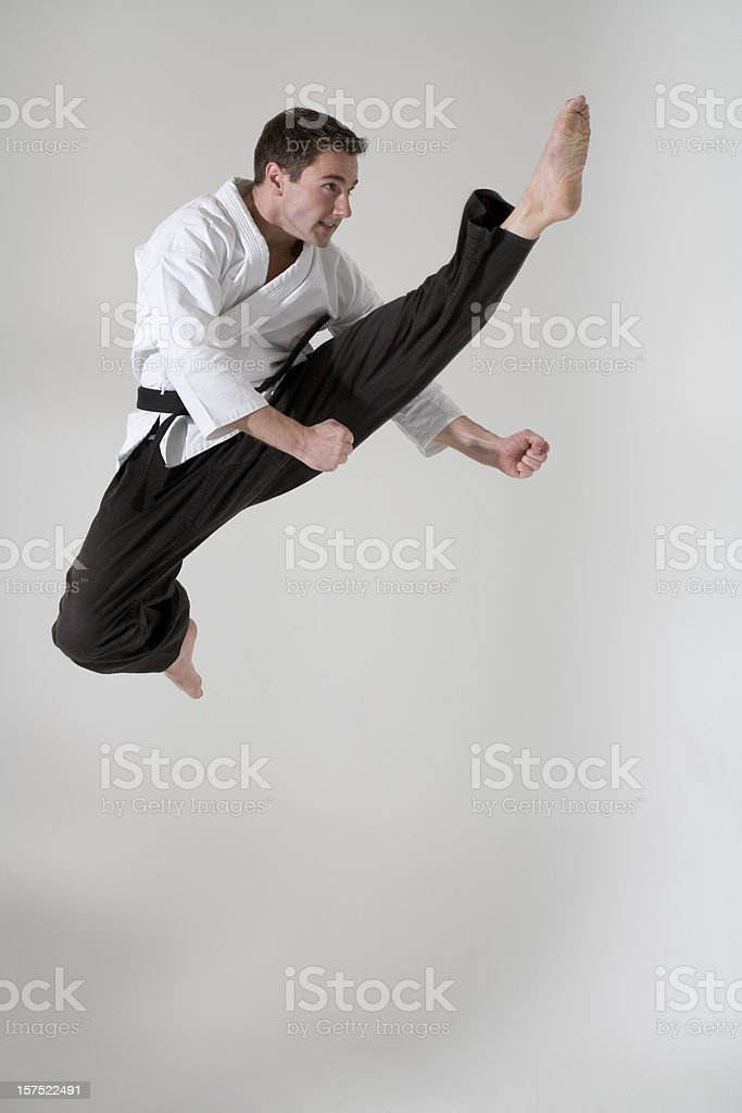 Young man martial artist stock photo