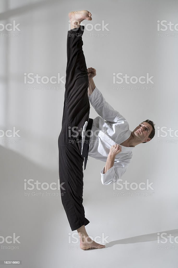 Young Man Martial artist stock photo