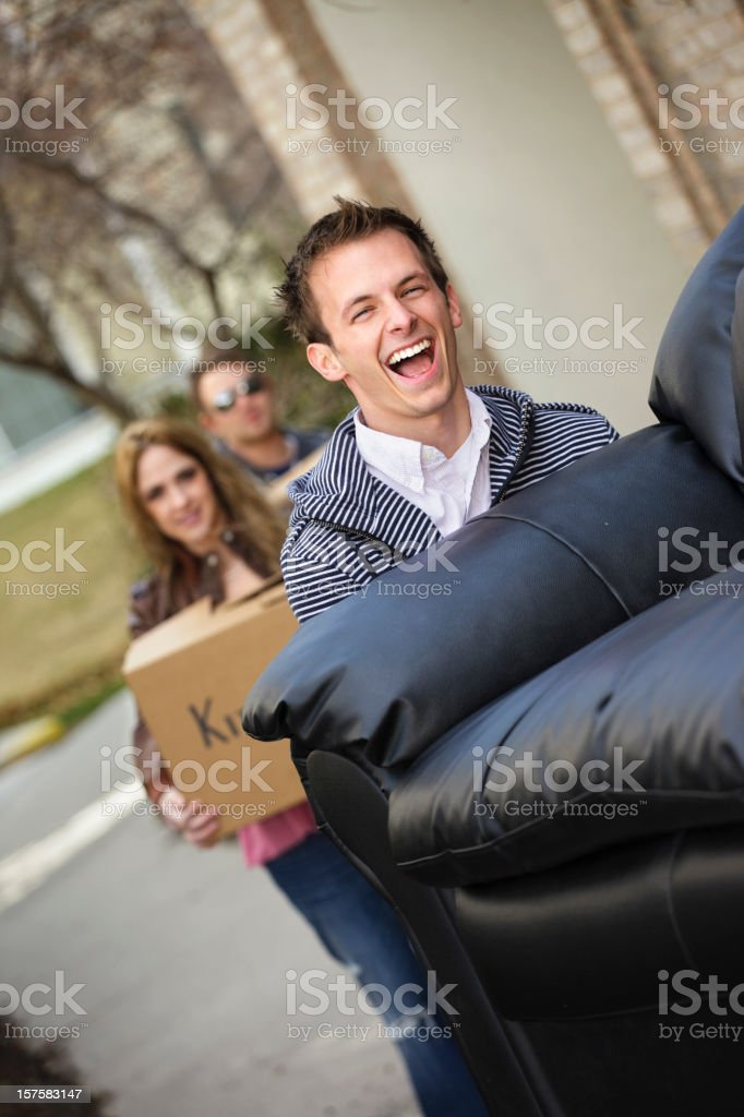 Young Man Moving In royalty-free stock photo